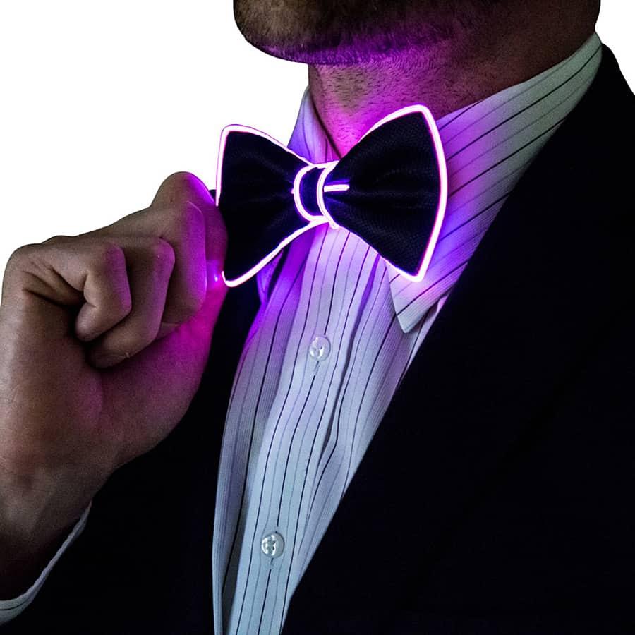 Neon Nightlife Light Up Bow Tie Neck Ties