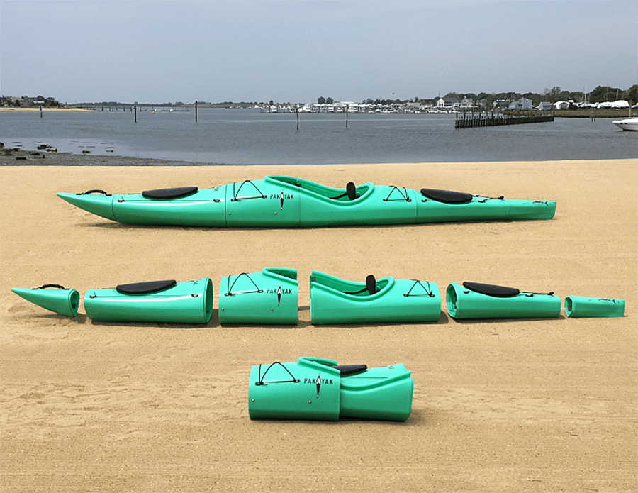 Backpack your kayak.