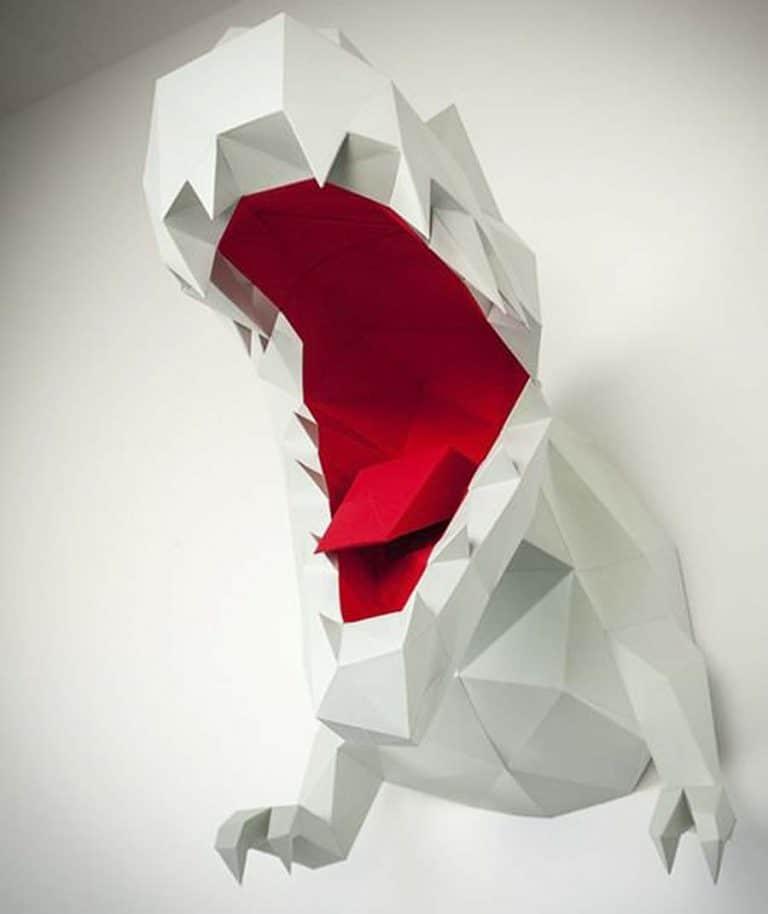 Papertrophy T-Rex Paper Trophy Paper Art