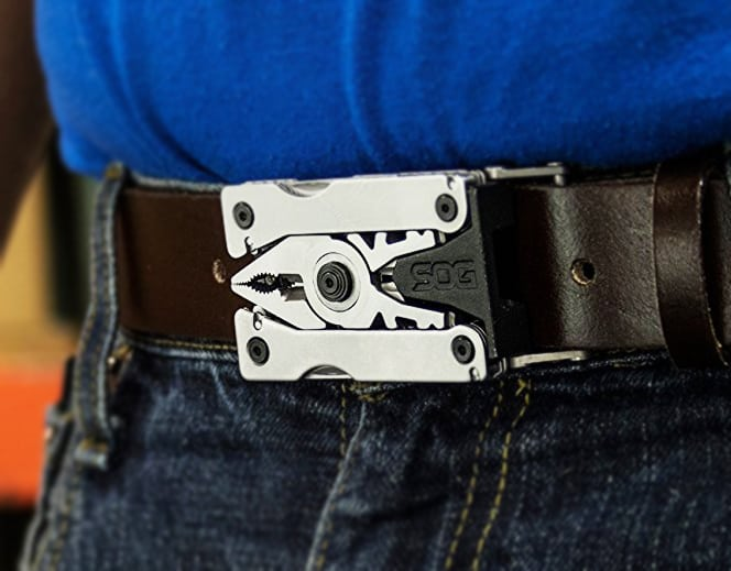 SOG Sync II Multi-Tool Buckle Cool Gift for Men