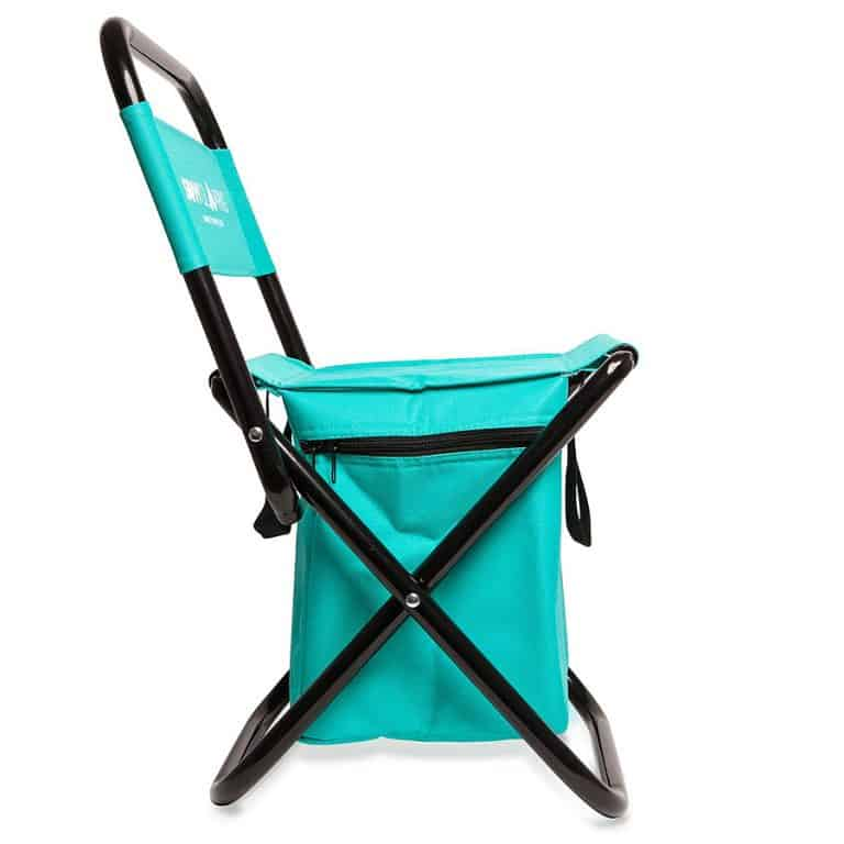 Savvy Glamping Mini Portable Folding Chair w Built In Cooler Durable