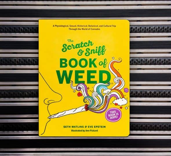 Scratch & Sniff Book of Weed Cool Coffee Table Book
