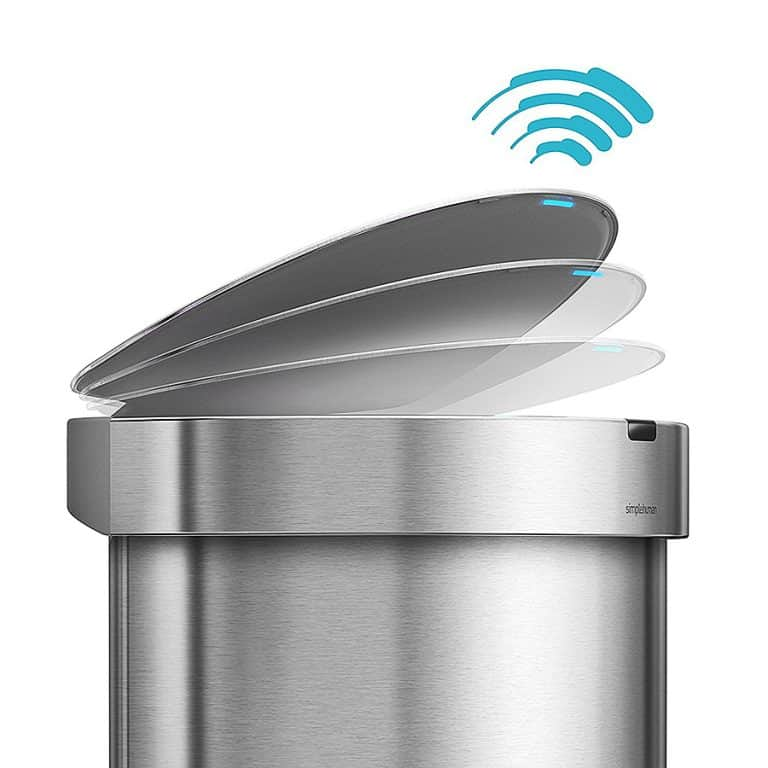 Simplehuman Touchless 45L Semi-round Sensor Trash Can Automated