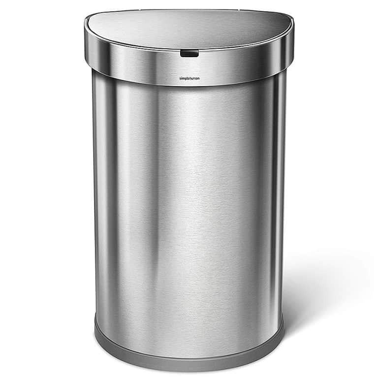 Simplehuman Touchless 45L Semi-round Sensor Trash Can Stainless Steel