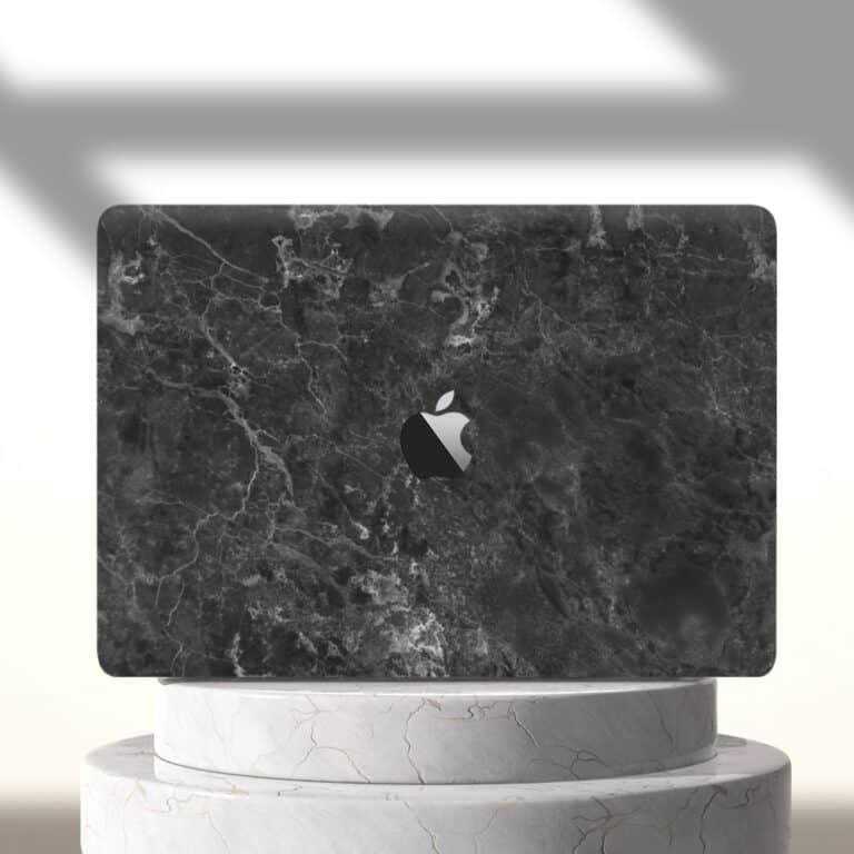 Slick Case Macbook Marble Case Gun Metal Grey