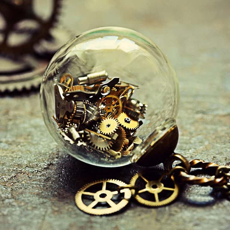 The Creaking Door Tick Tock Steampunk Necklace Accessory