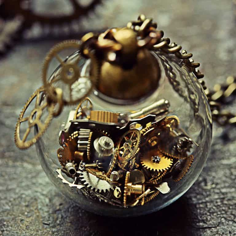 The Creaking Door Tick Tock Steampunk Necklace Necklaces