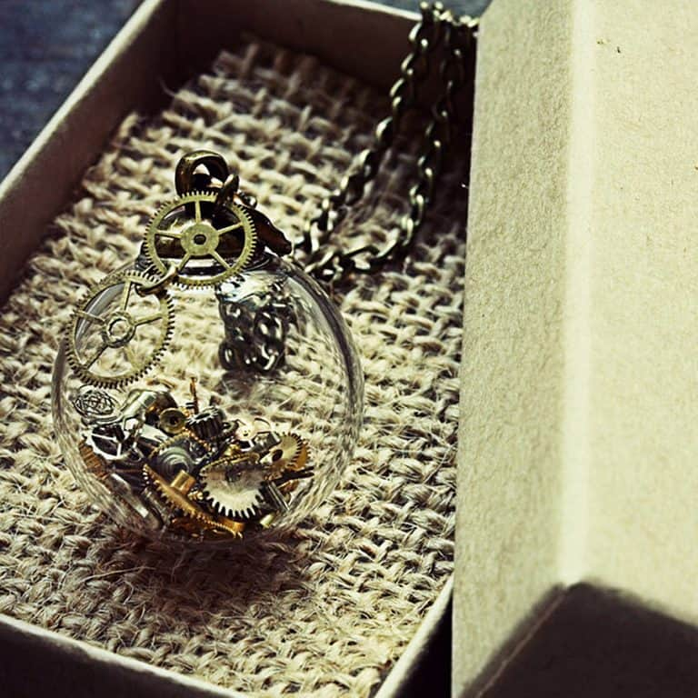 The Creaking Door Tick Tock Steampunk Necklace Pendant