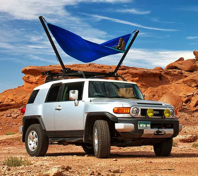 TrailNest Roof Top Hammock Stand System Automotive Accessory