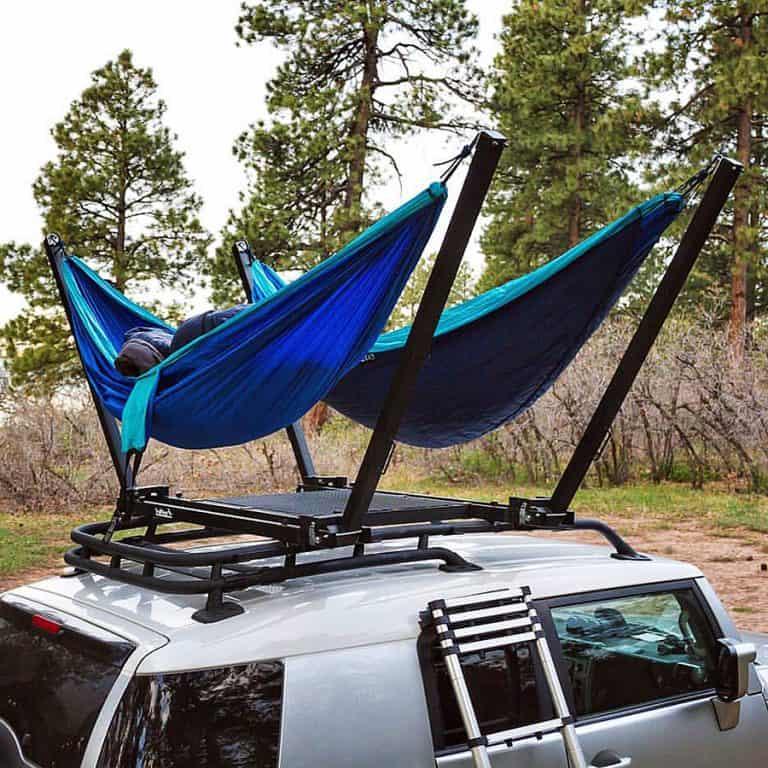 TrailNest Roof Top Hammock Stand System Sleeping
