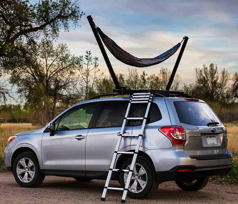 TrailNest Roof Top Hammock Stand System Vehicle Mounted Hammock
