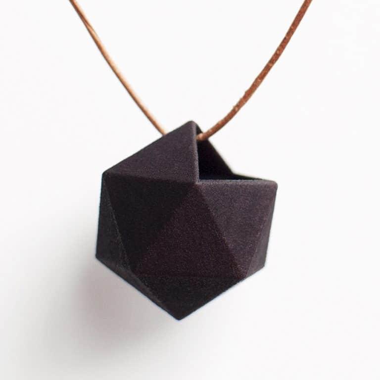 Wearable Planter Icosahedron Planter Necklace Accessory