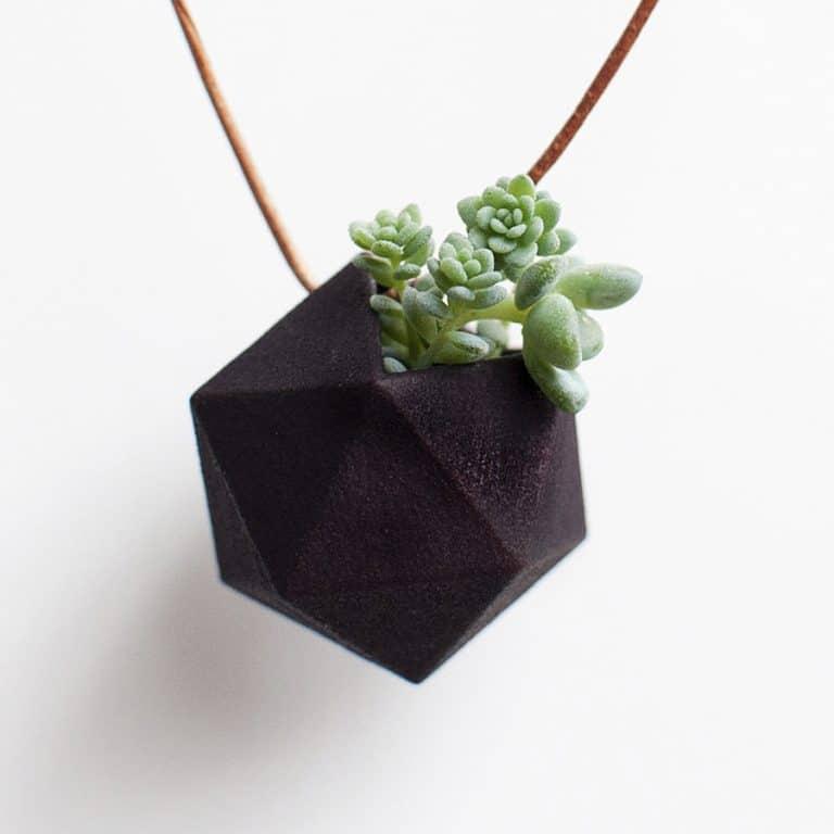 Wearable Planter Icosahedron Planter Necklace Pet Plant