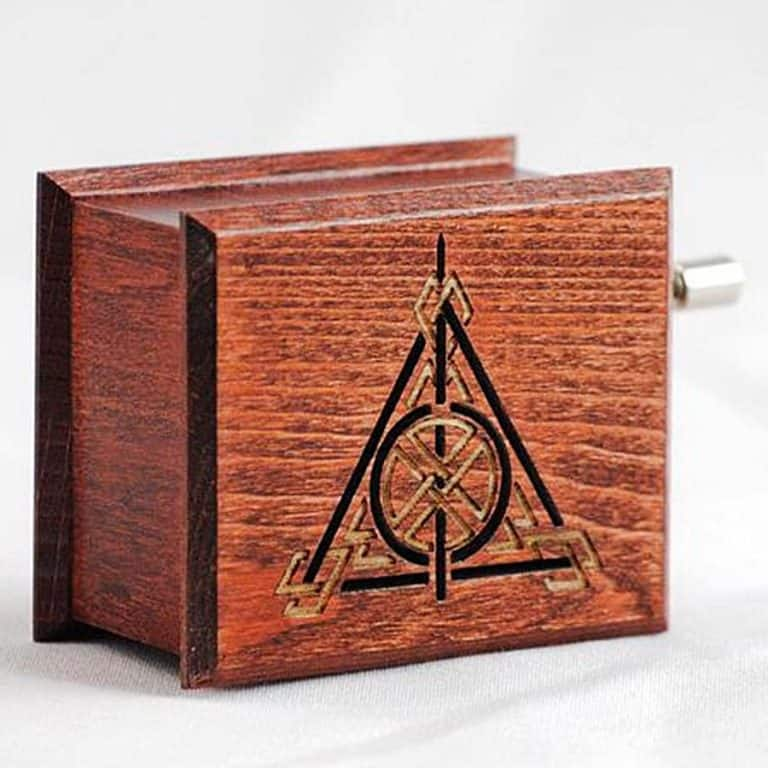 Woodissimo Harry Potter Deathly Hallows Music Box Eco Friendly