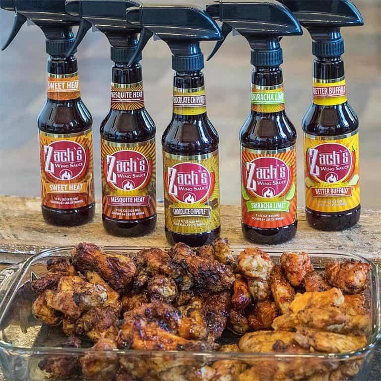 Zach's Wing Sauce Sprayable Hot Sauce Grilling