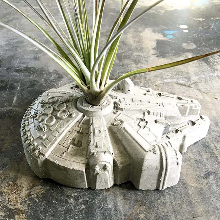 Anson Design Star Wars Millennium Falcon Concrete Planter Decorate