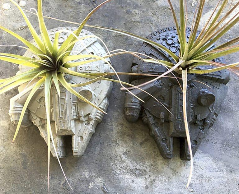 Anson Design Star Wars Millennium Falcon Concrete Planter Planters