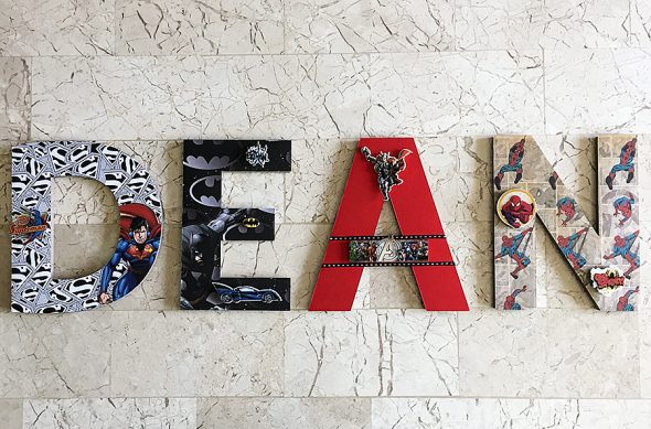 Wall letters that are anything but boring.