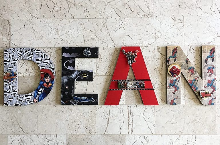 Beary Special Scrappin Super Hero Wall Letters Customize