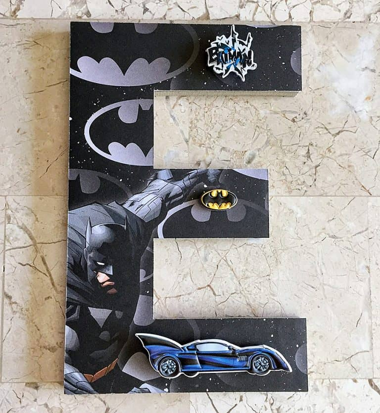 Beary Special Scrappin Super Hero Wall Letters Decoration