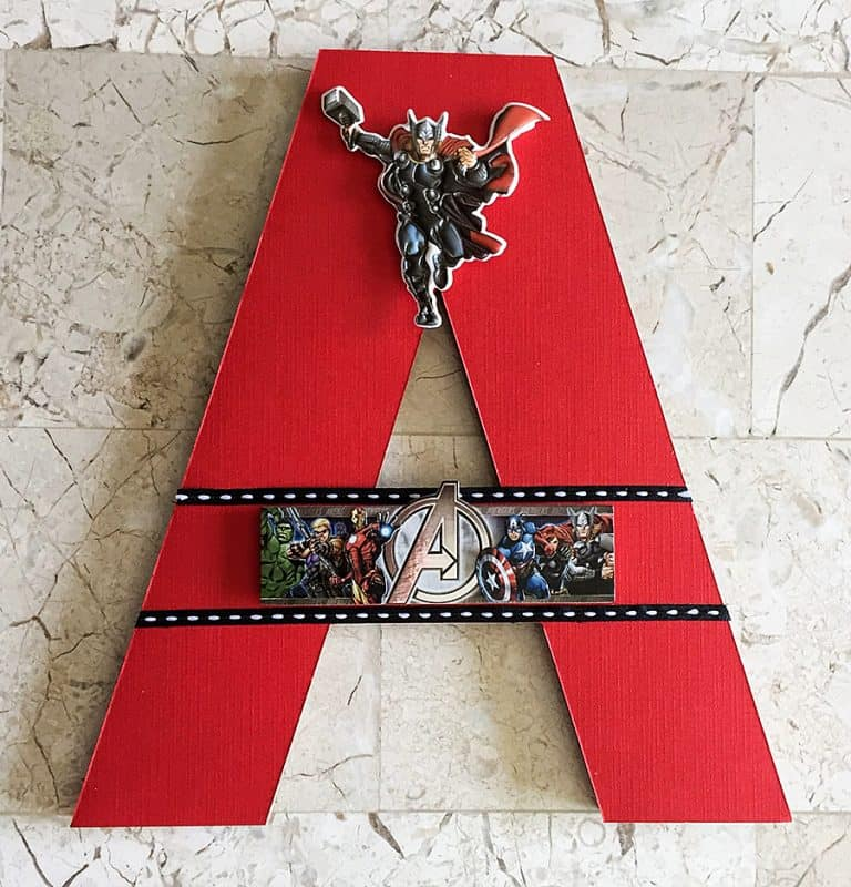 Beary Special Scrappin Super Hero Wall Letters Display