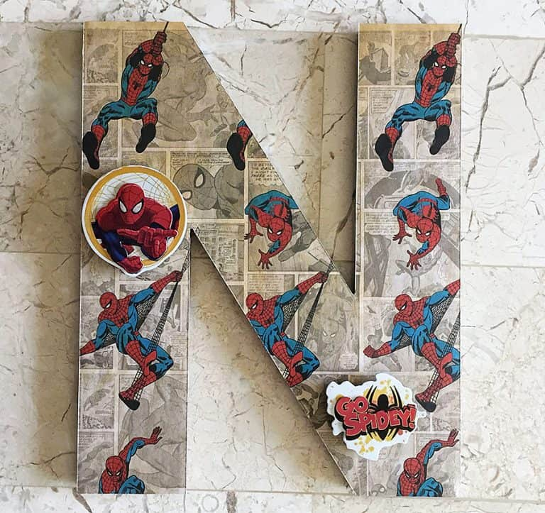Beary Special Scrappin Super Hero Wall Letters Spiderman Design
