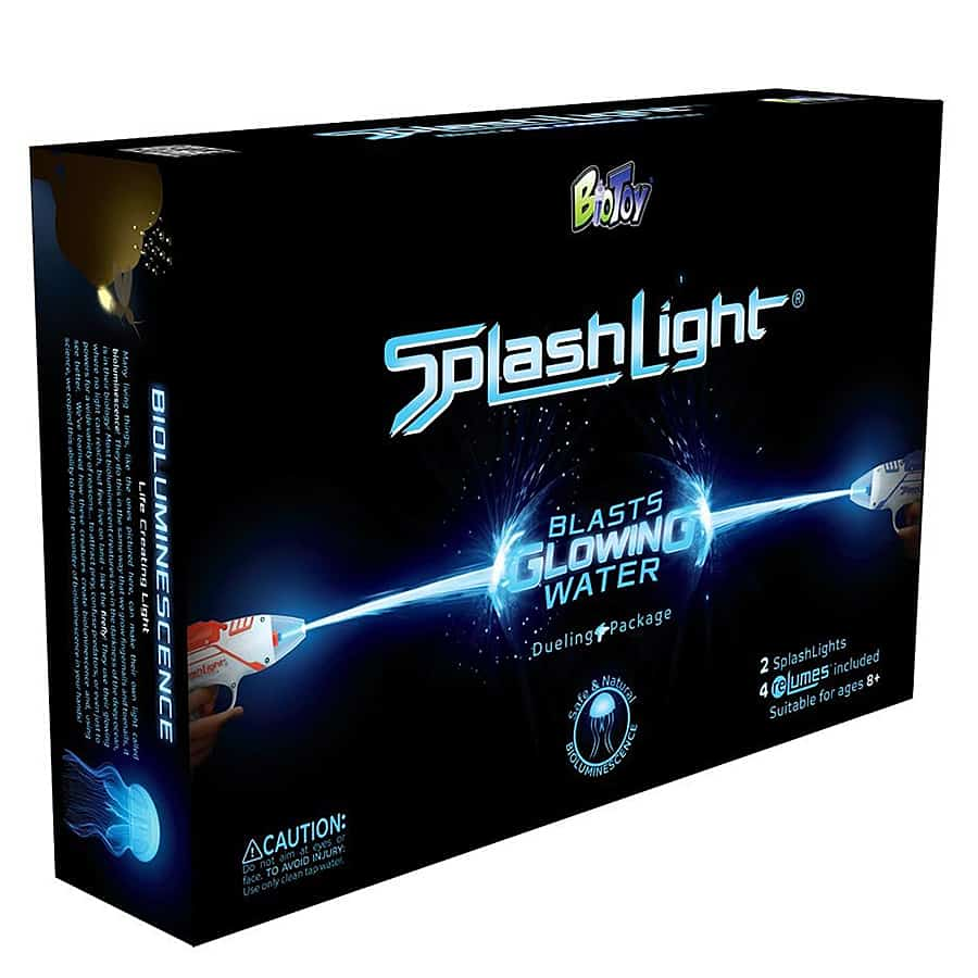 BioToy SplashLight Bioluminescent Water Blaster Glowing Water