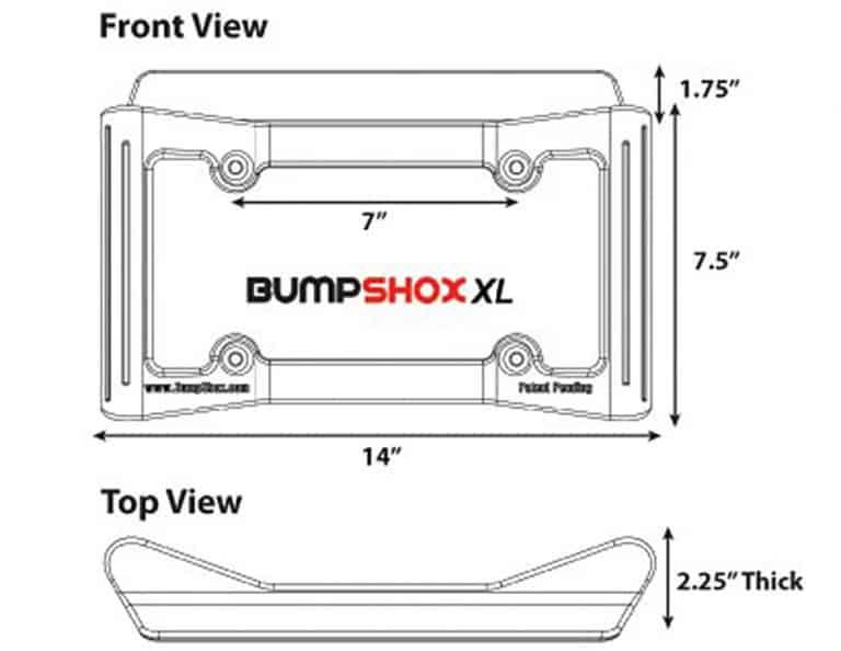 BumpShox XL Front Car Bumper Protection Auto Supply