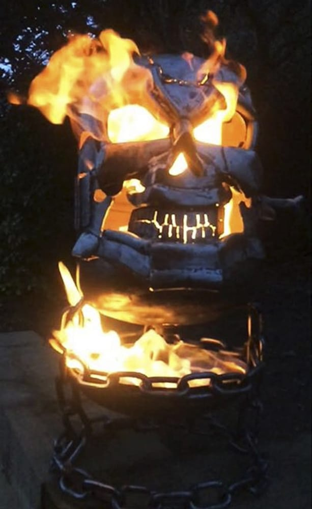 Burned By Design Ghost Rider Fire Pits Backyard Product