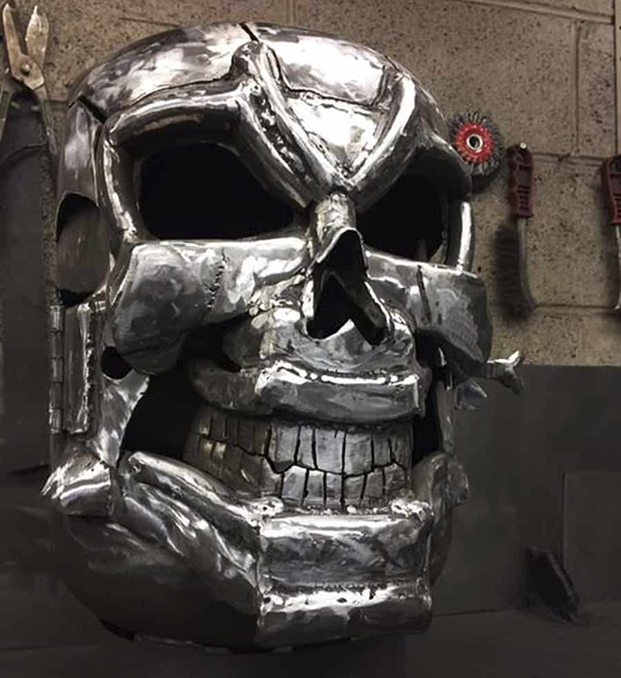 Burned By Design Ghost Rider Fire Pits Skull