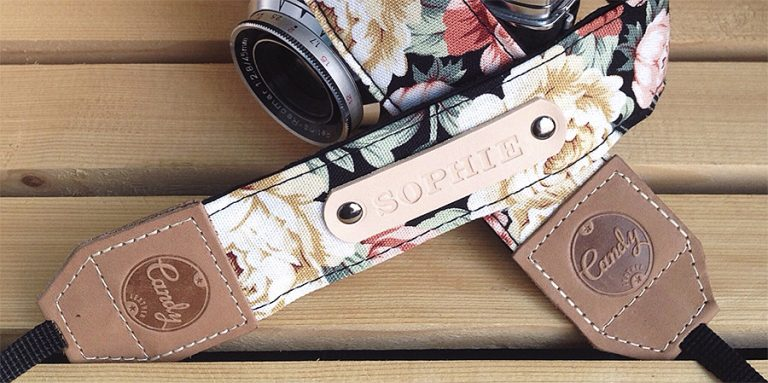Candy Leather Flower Camera Strap Accessory