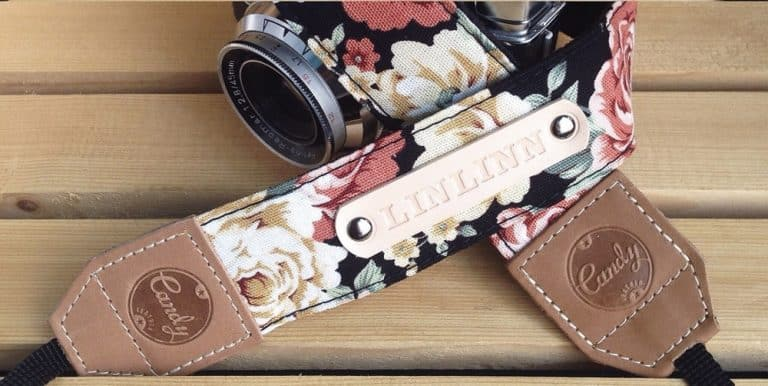 Candy Leather Flower Camera Strap Personalized