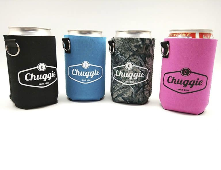 Chuggie Beer Can Coolie with Cigarette and Lighter Holder Accessory