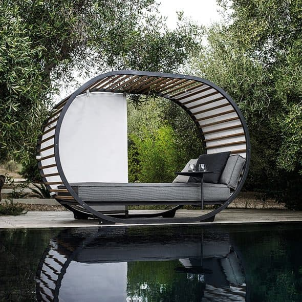 Lounge around outside in style.