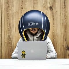 Wear you helmet, productivity first.