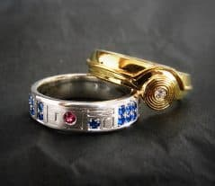 These are the wedding rings you are looking for.