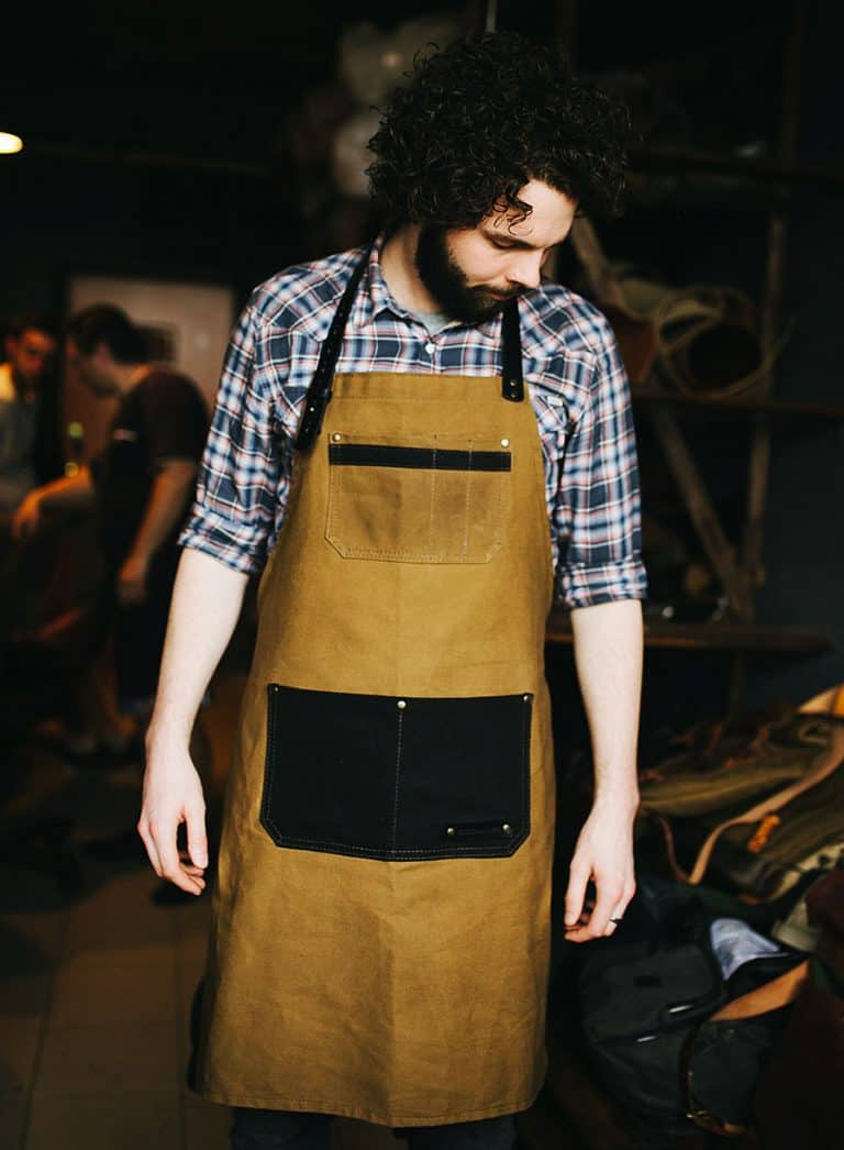 Kruk Garage Atelier Leather Apron Kitchen