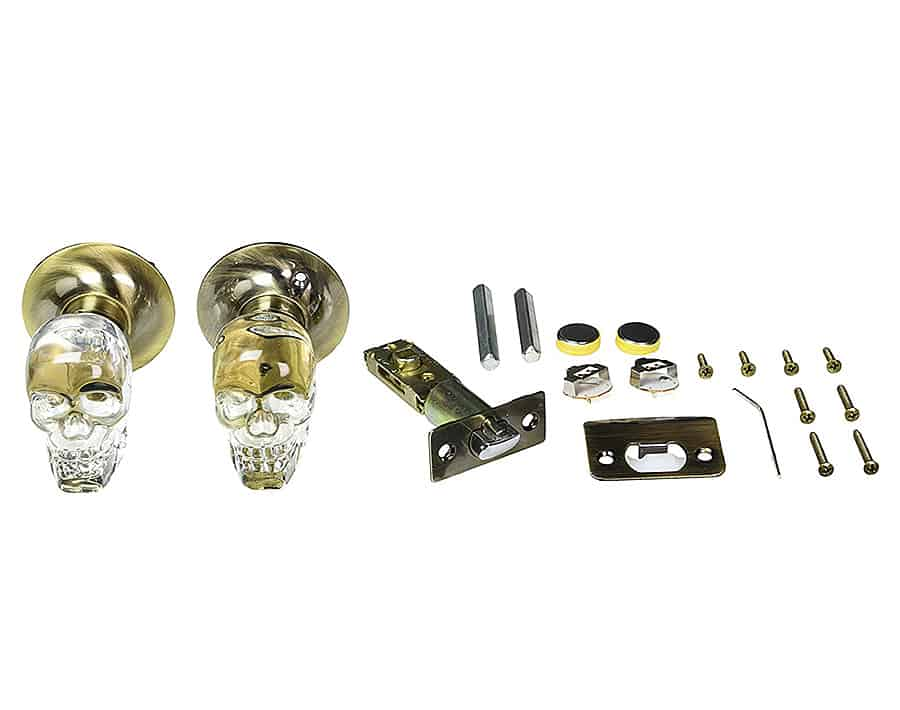 Krystal Touch Skull Passive Doorknob Door Hardware
