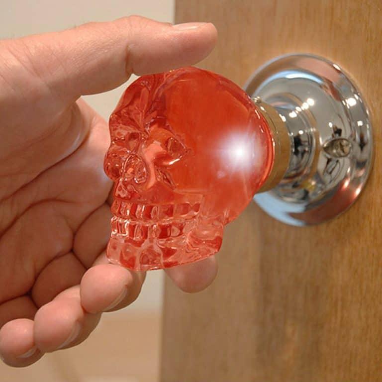 Krystal Touch Skull Passive Doorknob Interchangeable Knob