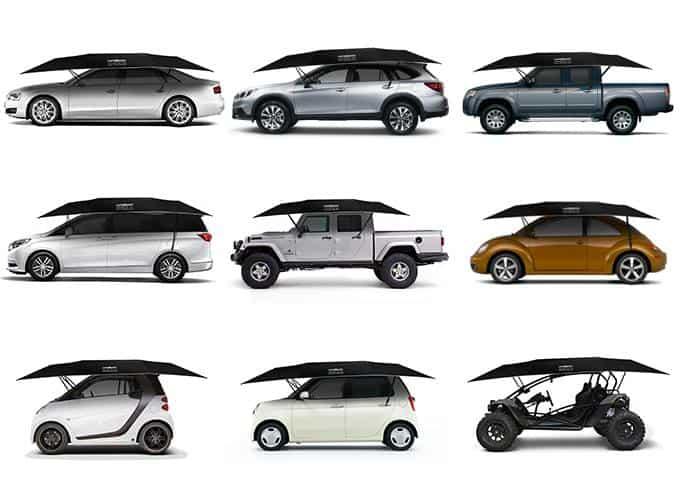 Lanmodo Four-Season Automatic Car Tent Different Vehicles