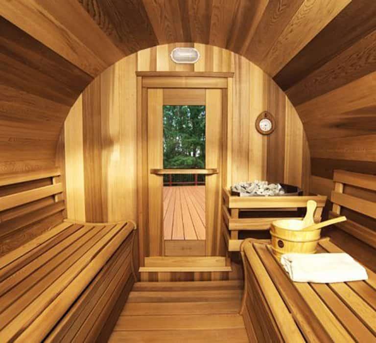 Leisure Craft West Panoramic View Barrel Sauna Bath