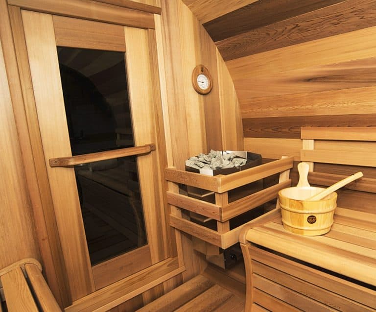 Leisure Craft West Panoramic View Barrel Sauna Cedar Boards