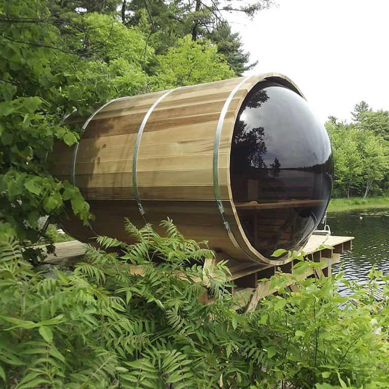 Leisure Craft West Panoramic View Barrel Sauna Outdoor Saunas