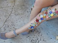 Add some sparkly color to your legs.