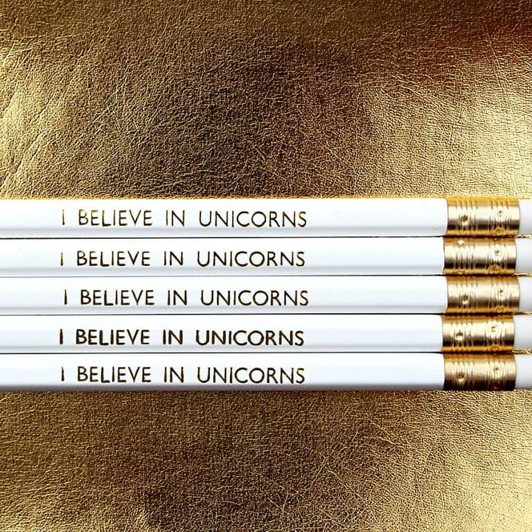 Lucy Made Me I Believe In Unicorns Pencil Pen