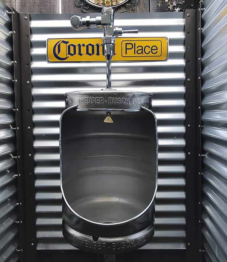 Mancave Concept Beer Keg Urinal Handmade Item