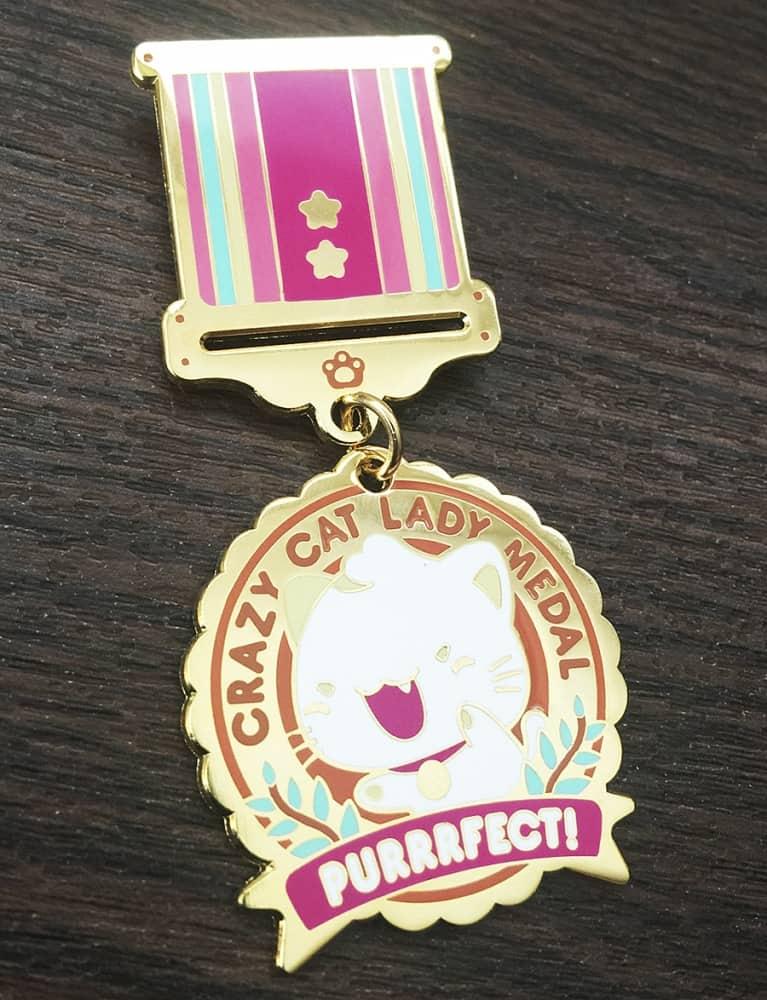 Milkbun Crazy Cat Lady Enamel Medal Medals