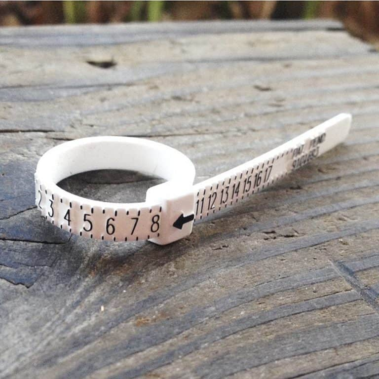 Multisizer Ring Sizing Gauge Reusable Plastic