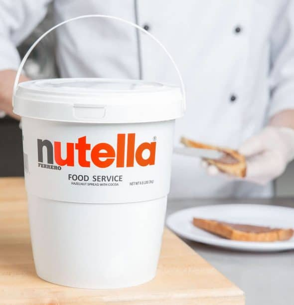 Nutella Hazelnut Spread 6.6 lb. Tub Chocolates