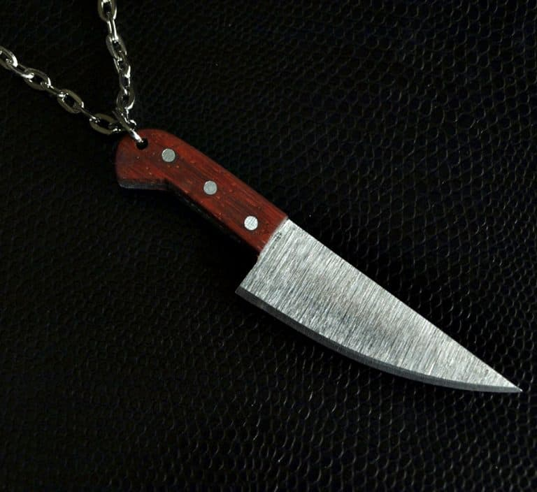 Ox Brand Forge Chef Knife Necklace Jewelry